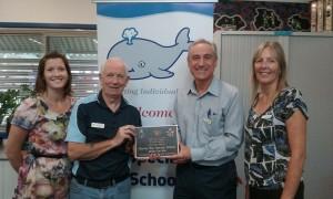 Hervey Bay Special School plaque presentation
